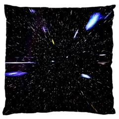 Space Warp Speed Hyperspace Through Starfield Nebula Space Star Hole Galaxy Standard Flano Cushion Case (one Side)