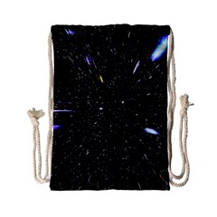 Space Warp Speed Hyperspace Through Starfield Nebula Space Star Hole Galaxy Drawstring Bag (small) by Mariart