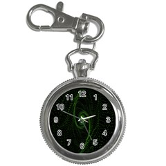 Space Green Hypnotizing Tunnel Animation Hole Polka Green Key Chain Watches by Mariart