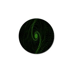Space Green Hypnotizing Tunnel Animation Hole Polka Green Golf Ball Marker (4 Pack)