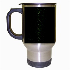 Space Green Hypnotizing Tunnel Animation Hole Polka Green Travel Mug (silver Gray) by Mariart