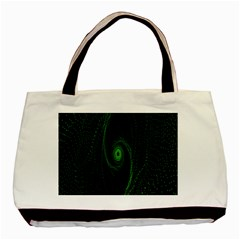 Space Green Hypnotizing Tunnel Animation Hole Polka Green Basic Tote Bag by Mariart