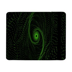 Space Green Hypnotizing Tunnel Animation Hole Polka Green Samsung Galaxy Tab Pro 8 4  Flip Case