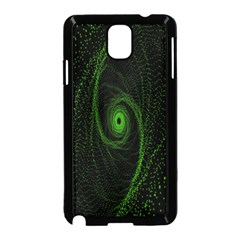 Space Green Hypnotizing Tunnel Animation Hole Polka Green Samsung Galaxy Note 3 Neo Hardshell Case (black) by Mariart