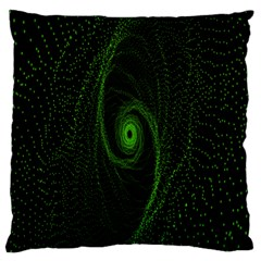 Space Green Hypnotizing Tunnel Animation Hole Polka Green Standard Flano Cushion Case (two Sides) by Mariart