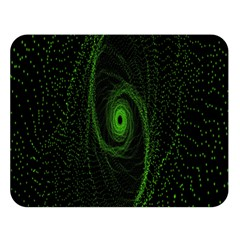 Space Green Hypnotizing Tunnel Animation Hole Polka Green Double Sided Flano Blanket (large)  by Mariart