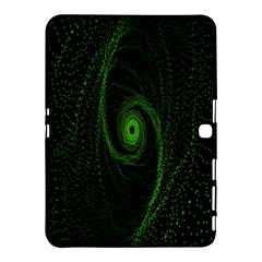 Space Green Hypnotizing Tunnel Animation Hole Polka Green Samsung Galaxy Tab 4 (10 1 ) Hardshell Case