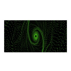 Space Green Hypnotizing Tunnel Animation Hole Polka Green Satin Wrap by Mariart