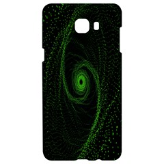 Space Green Hypnotizing Tunnel Animation Hole Polka Green Samsung C9 Pro Hardshell Case