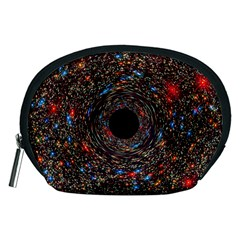Space Star Light Black Hole Accessory Pouches (medium)  by Mariart