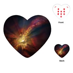 Sun Light Galaxy Playing Cards (heart)