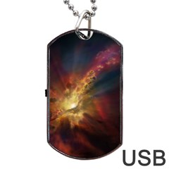 Sun Light Galaxy Dog Tag Usb Flash (one Side) by Mariart
