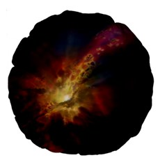 Sun Light Galaxy Large 18  Premium Round Cushions by Mariart