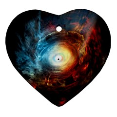 Supermassive Black Hole Galaxy Is Hidden Behind Worldwide Network Ornament (heart) by Mariart