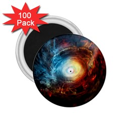 Supermassive Black Hole Galaxy Is Hidden Behind Worldwide Network 2 25  Magnets (100 Pack)  by Mariart