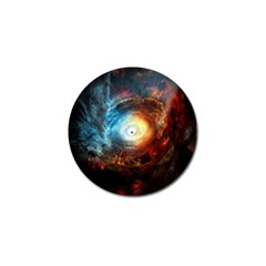 Supermassive Black Hole Galaxy Is Hidden Behind Worldwide Network Golf Ball Marker (4 Pack) by Mariart