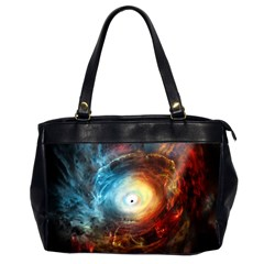 Supermassive Black Hole Galaxy Is Hidden Behind Worldwide Network Office Handbags (2 Sides)