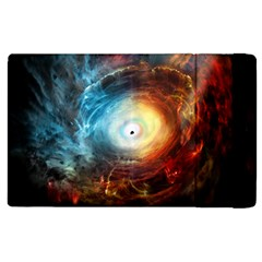 Supermassive Black Hole Galaxy Is Hidden Behind Worldwide Network Apple Ipad 2 Flip Case by Mariart