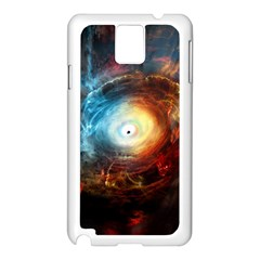 Supermassive Black Hole Galaxy Is Hidden Behind Worldwide Network Samsung Galaxy Note 3 N9005 Case (white) by Mariart