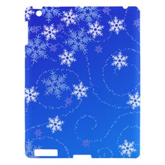 Winter Blue Snowflakes Rain Cool Apple Ipad 3/4 Hardshell Case by Mariart