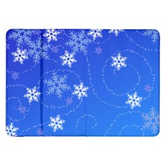 Winter Blue Snowflakes Rain Cool Samsung Galaxy Tab 8 9  P7300 Flip Case by Mariart