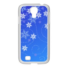 Winter Blue Snowflakes Rain Cool Samsung Galaxy S4 I9500/ I9505 Case (white) by Mariart
