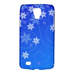 Winter Blue Snowflakes Rain Cool Galaxy S4 Active by Mariart