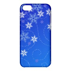 Winter Blue Snowflakes Rain Cool Apple Iphone 5c Hardshell Case by Mariart
