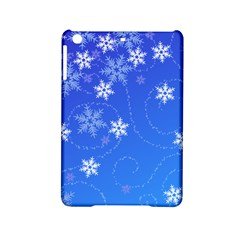 Winter Blue Snowflakes Rain Cool Ipad Mini 2 Hardshell Cases by Mariart