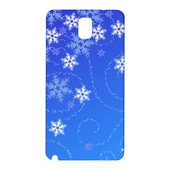 Winter Blue Snowflakes Rain Cool Samsung Galaxy Note 3 N9005 Hardshell Back Case by Mariart