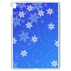 Winter Blue Snowflakes Rain Cool Apple Ipad Pro 9 7   White Seamless Case by Mariart