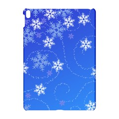 Winter Blue Snowflakes Rain Cool Apple Ipad Pro 10 5   Hardshell Case by Mariart