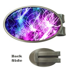 Space Galaxy Purple Blue Money Clips (oval)