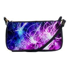 Space Galaxy Purple Blue Shoulder Clutch Bags