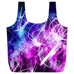Space Galaxy Purple Blue Full Print Recycle Bags (l)  by Mariart