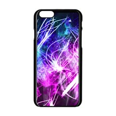 Space Galaxy Purple Blue Apple Iphone 6/6s Black Enamel Case by Mariart