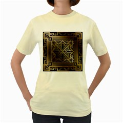 Art Nouveau Women s Yellow T Shirt