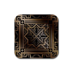 Art Nouveau Rubber Coaster (square)