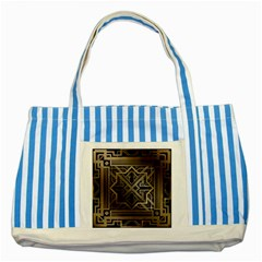 Art Nouveau Striped Blue Tote Bag