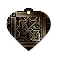 Art Nouveau Dog Tag Heart (one Side)