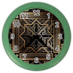 Art Nouveau Color Wall Clocks