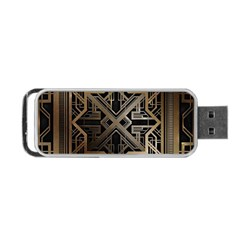 Art Nouveau Portable Usb Flash (one Side)
