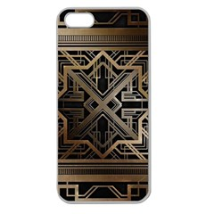 Art Nouveau Apple Seamless Iphone 5 Case (clear) by 8fugoso