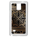 art nouveau Samsung Galaxy Note 4 Case (White) Front