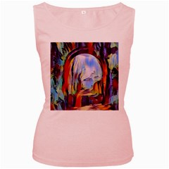 Abstract Tunnel Women s Pink Tank Top