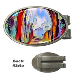 Abstract Tunnel Money Clips (oval)