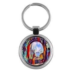Abstract Tunnel Key Chains (round)