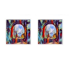 Abstract Tunnel Cufflinks (square)