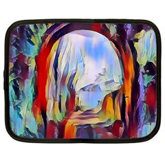 Abstract Tunnel Netbook Case (large)