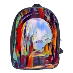 Abstract Tunnel School Bag (large)